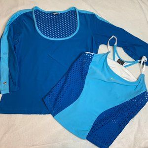 Nike Two Piece Athletic Top in Light & Dark Blue